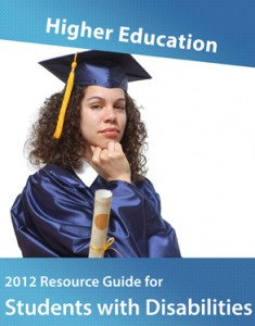 cover of education guide with a girl student in graduation gown