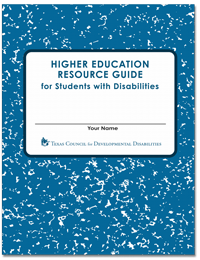 Graphic of TCDD Higher Education Resource Guide Cover art